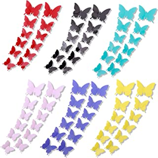 84pcs Removable Mural 3D Butterfly Wall Stickers Decal for Home & Room Decoration 7 Colors
