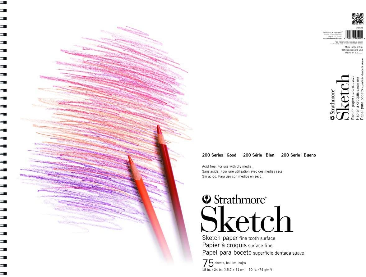 Pack 20 OXFORD 400093195 A4 Sketch Pad 20 Sheets 120gsm White Ref 400093195