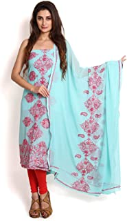 BLUE GEORGETTE SUIT WITH CHIKANKARI & ZARDOZI