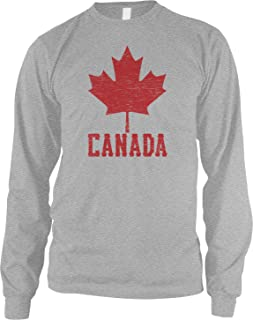 Men's Canadian Maple Leaf, Canada Pride Long Sleeve Shirt