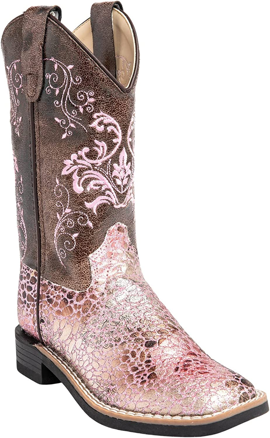 Shyanne Girls' Faux Leather Western Boot SALENEW very popular Square - Toe Bvb9154 55% OFF