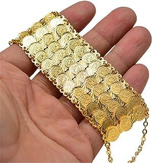 متعدد الطبقات سوار 24 كيلو مطلية بالذهب مزود بجنون تشكيلات مائية