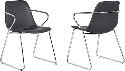 Amazon.com: Flash Muebles Metal restaurante Pila silla con ...