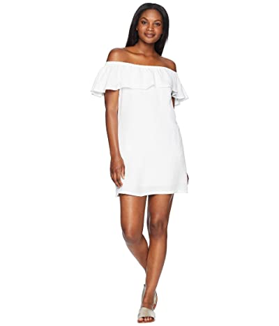 Tommy Bahama Linen Dye Off the Shoulder Dress Cover-Up (White) Women