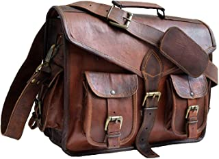 Best kattee handmade genuine leather laptop briefcase messenger bag Reviews