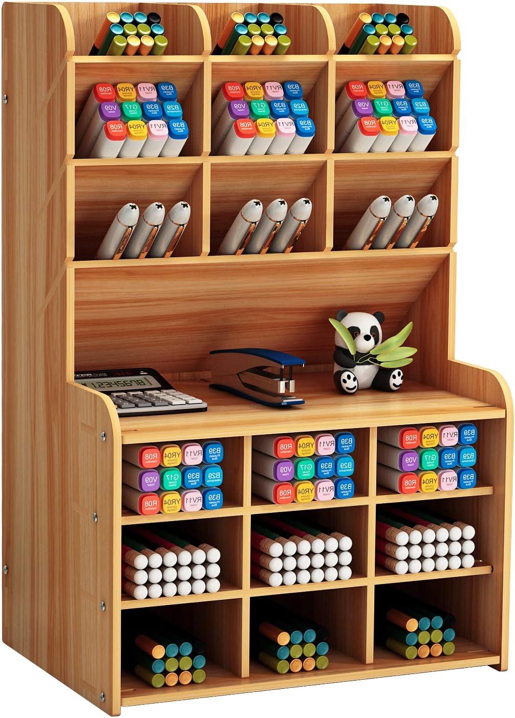 Marbrasse Upgraded Wooden Pencil Holder Desk Pen Ranking TOP11 Columbus Mall for Organizer