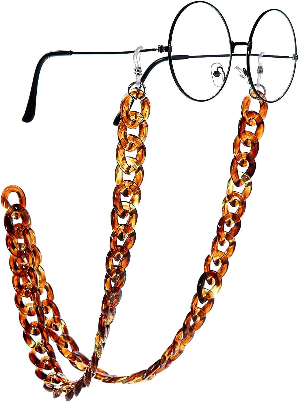 Wento Women's Eyeglass Chains Acrylic Chain Marble Texture Sungl