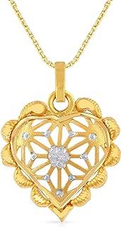 Malabar Gold & Diamonds 22k (916) Two Colour Gold Pendant for Women