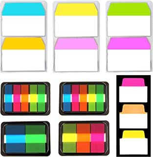 300 Pieces Tabs with 3 Sets of 2-inch Sticky Index Tabs, 4 Sets of Page Markers and 1 Set of 1.4-inch Sticky Tabs, Repositionable Filing Colored Tabs Flags for Reading Notes, Books and Classify Files