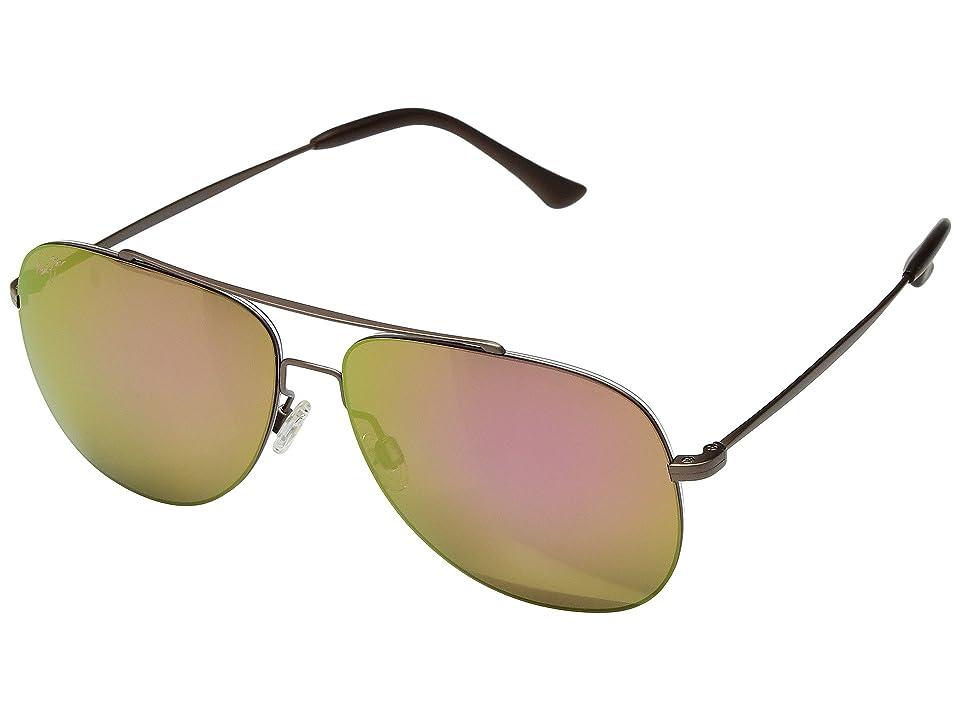 Maui Jim Cinder Cone (Satin Sepia/Maui Sunrise) Athletic Performance Sport Sunglasses