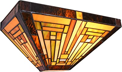 """Capulina Wall Sconce 60W W12"""" Handcrafted Tiffany Lights for Ceiling, Tiffany Pendant Hanging Lights, Tiffany Style Lighting Fixtures, Hanging Tiffany Style Lamp, Tiffany Chandeliers for Dining Room"""
