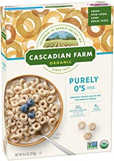 Cascadian Farm Organic Purely O's Cereal 8.6 oz Box (pack of 12)