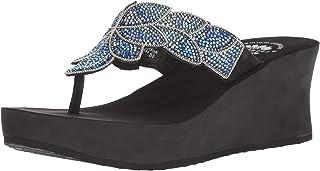 Yellow Box Women's P-Stunning Sandal, Sapphire, 9.5 M US