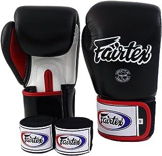 Fairtex Muay Thai Boxing Gloves BGV1 Black White Red Gloves & Handwraps Size : 10 12 14 16 oz Training & Sparring All Purpose Gloves for Kick Boxing MMA K1 Tight Fit Design