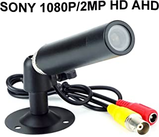 CNDST 2000TVL CCTV Sony 1080P HD AHD Color Mini Bullet Cámara de seguridad Mini Spy Hidden Waterproof Camera 2MP StarLight 3.6mm Lente 90 Grados DC 12V