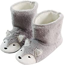 Cute Fox Fluffy Animal Bootie Slippers for Women Monster Cosplay