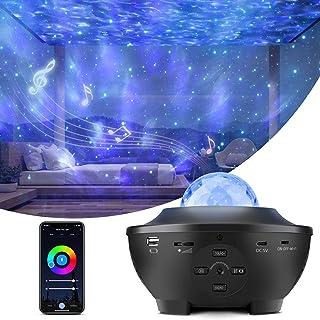 Liwarace Star Projector Light, Smart Sky Galaxy Ocean Wave Night Light Projector Compatible with Alexa Google Assistant, W...