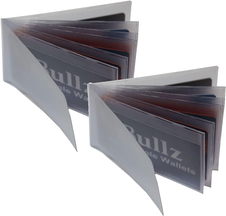 Set Of 2 Heavy Duty Vinyl Credit Card ID Holder Wallet Insert MADE IN USA