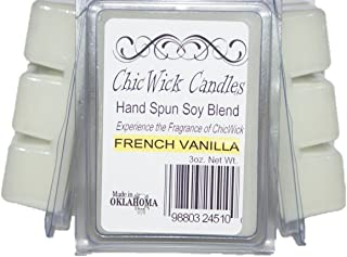 ChicWick Candles 3Pack French Vanilla Soy Blend Wax Melts, Soy Tarts, Soy CubesMelts 9oz 18 Wax Cubes Wax Tarts Wax Chunks,100 Plus Hours of Quality Fragrance