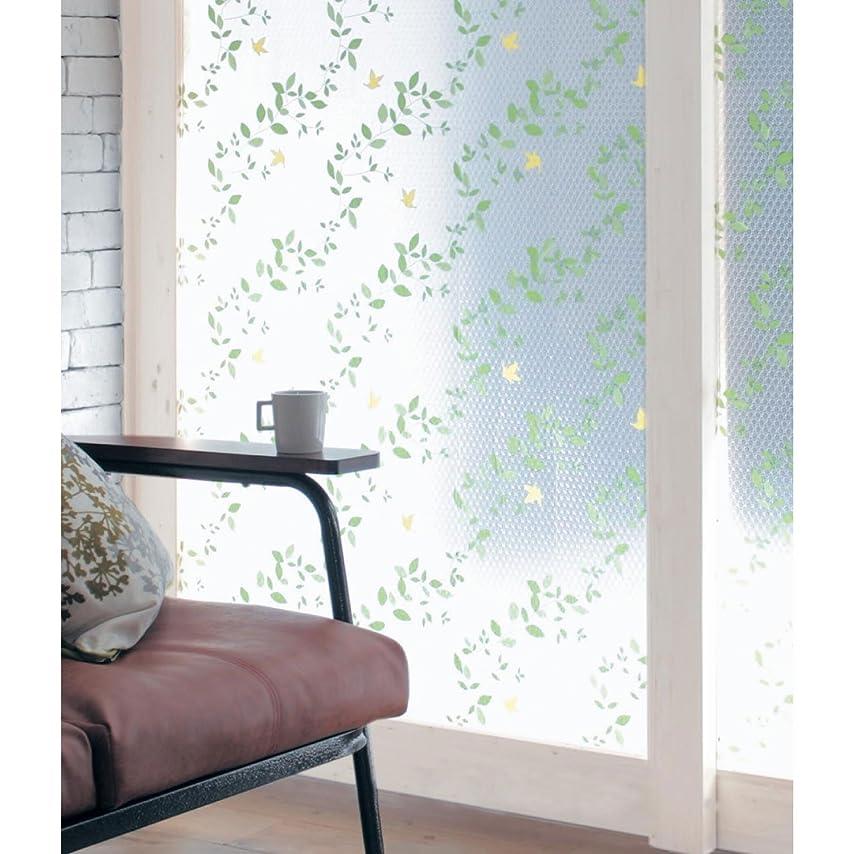 調子太鼓腹こっそり[ベルメゾン] すりガラス 断熱 UV カット シート ガーデン&バード サイズ(約) :90×90cm