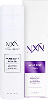 NxN Acne Facial Toner with Salicylic Acid, Witch Hazel, Probiotics & Natural Multi-Fruit Extracts Alcohol Free Treatment f...