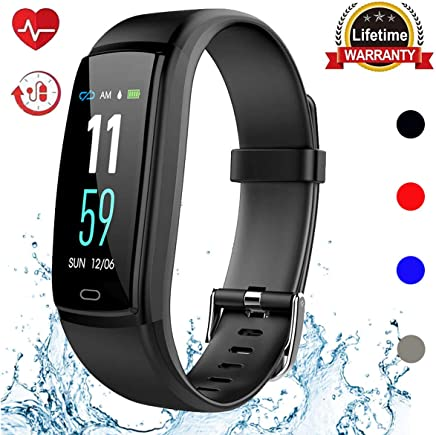 Mgaolo Fitness Tracker HR, Activity Tracker Waterproof Smart Watch Wristband with Heart Rate Blood Pressure Pedometer for Android and iPhone