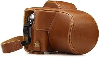 MegaGear MG1347 Estuche para cámara fotográfica - Funda (Funda Olympus Olympus OM-D E-M10 Mark III (14-42mm) Tirante para Hombro Marrón)