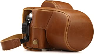 MegaGear Olympus OM-D E-M10 Mark III (14-42mm) Ever Ready Leather Camera Case and Strap, with Battery Access - Light Brown - MG1347