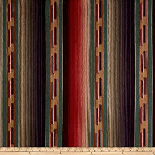 Laura & Kiran 0515042 Southwest Stripes Navajo Teal Multi Fabric by the Yard
