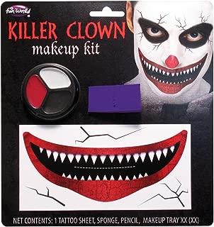 Fun World Unisex-Adult's Killer Clown Make-up Kit, Multi, Standard