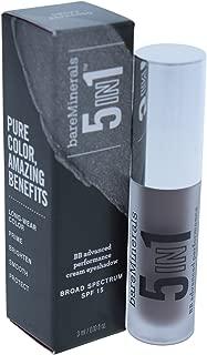 bareMinerals 5-in-1 BB Advanced Performance Cream Eyeshadow, Smoky Espresso, 0.1 Fluid Ounce