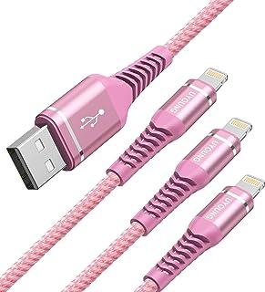 Lightning ケーブル 2M 3本セット iPhone 充電ケーブル アイフォン 急速充電 USB ライトニング コード Apple iPhoneXS XR 6s 7 Plus 8 10 11 12mini Pro iPad iPod 対...