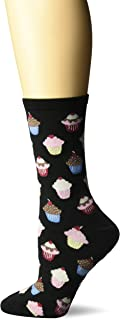 Hot Sox Women`s Food and Drink Novelty Casual Crew Socks