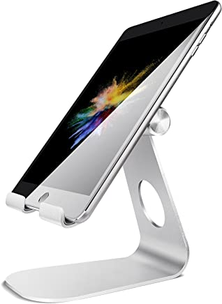 Lamicall Supporto Tablet, Supporto Regolabile : Universale Stand Dock per 2018 Pad PRO 10.5, PRO 9.7, PRO 12.9, Pad Mini 2 3 4, Pad Air, Air 2, Phone, Samsung Tab, Altri Tablets - Argento