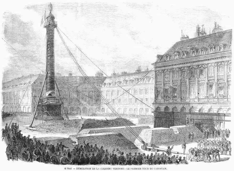 Amazon.com: Paris Commune 1871 Ncommunards Topple Napoleon IS Column In Place Vendome Paris 8 May 1871 Wood Engraving From A Contemporary French Newspaper Poster Print by (18 x 24): Posters & Prints