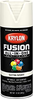 Krylon K02739007 Fusion All-in-One Spray Paint, Ivory