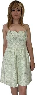 Women's A Line Detachable Straps Eyelet Dress Lily Pad Bright Green