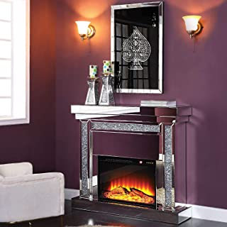 Acme Furniture Fireplace in Mirrored and Faux