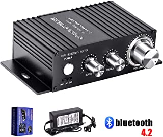 ICQUANZ Hi-Fi Audio Amplifiers Switcher Splitter Selector//2-Way Audio Crossover Speakers with Remote Control and LED Display /& Power Supply Amplifier Speaker Switcher Two in One Out One
