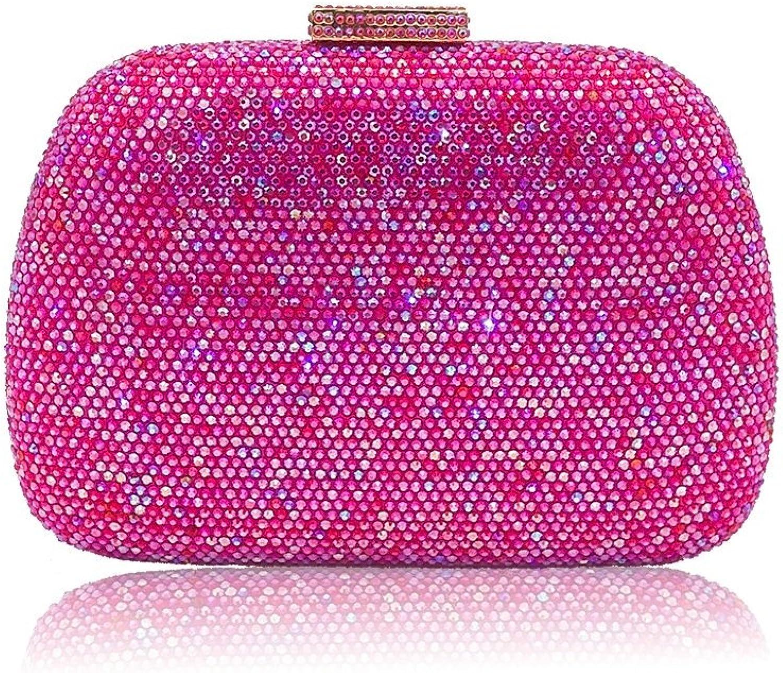 Dazzling Crystal Women Evening Bags Minaudiere Clutch Handbag Purse