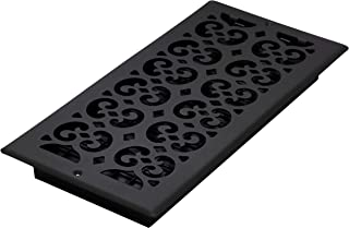 Decor Grates ST614W 6-Inch by 14-Inch Painted Wall Register, Black Textured