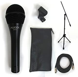 Audix OM5 Dynamic Hypercardioid Vocal Mic Bundle w/Free Cable and Boom Stand!