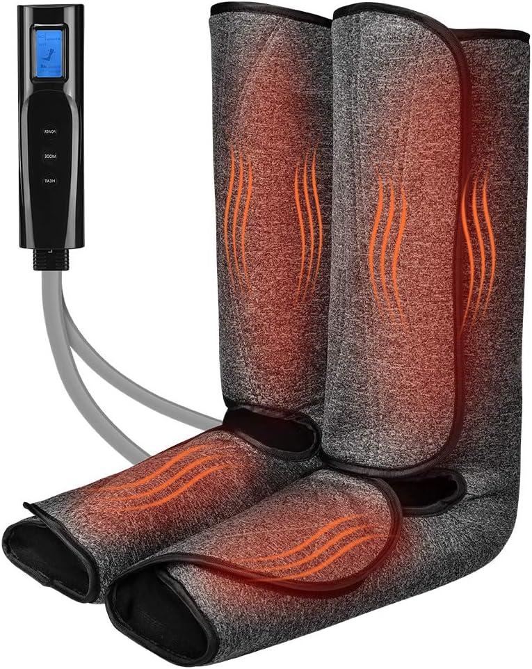 Leg Massager for Circulation with Heat Mac and San Francisco supreme Mall Calf Foot Massage