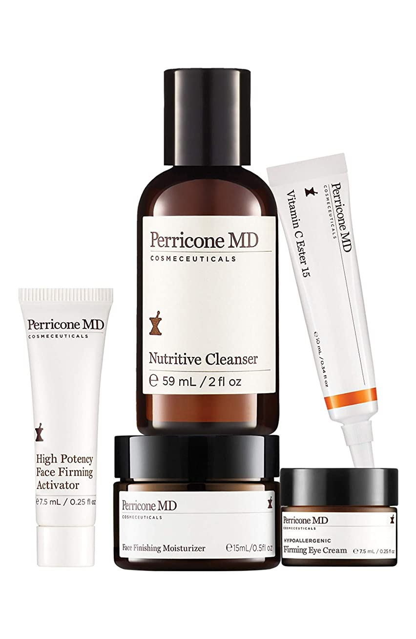 農業の黒くする範囲ドクターペリコン Discover The Power Essentials Kit: Nutritive Cleanser+Firming Activator+Finishing Moisturizer+Eye Cream+Vitamin C Ester 5pcs並行輸入品