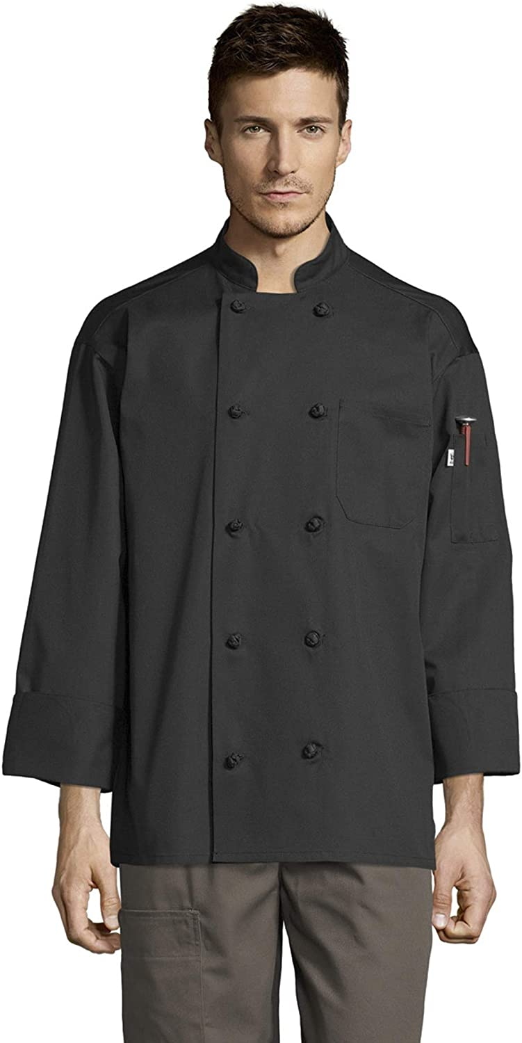 Uncommon Threads Unisex Free shipping on posting reviews Classic Max 60% OFF Knot Wicking Pro Mesh Chef Coat