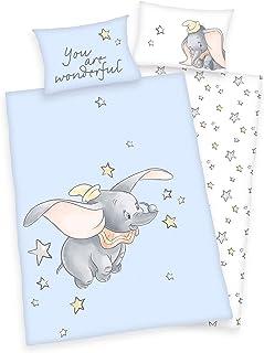 Disney Dumbo - Juego de cama para bebé, mullido azul Ropa de cama. Talla:100 x 135 cm