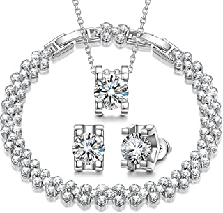 QIANSE Jewelry Set for Mother's Day Snow Queen Cubic...