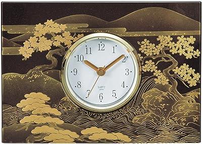 カノー 置き時計・掛け時計 春秋山水 26×4.5×18.5cm パネル時計