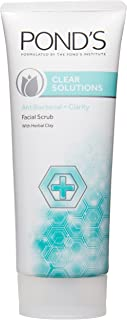 Pond's Clear Solutions Facial Scrub, Anti-Bacterial + Clarity With Herbal Clay, 100GM