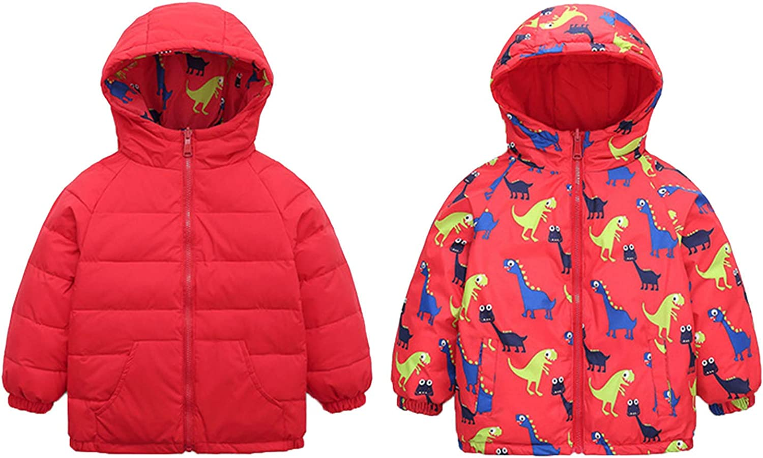 Toddler Baby Girls Winter Cartoon A surprise price is realized Hooded Out gift Warm Windproof Coat